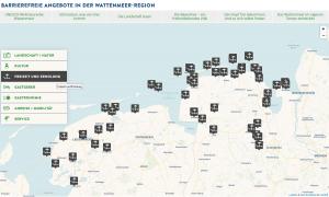 Auszug aus der barrierefreien Übersichtskarte unter www.wattenmeer-barrierefrei.de